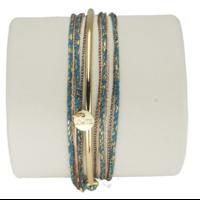 Bracelet Kelly Vert/Bleu Doré