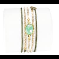 Bracelet Kerala Vert d'Eau
