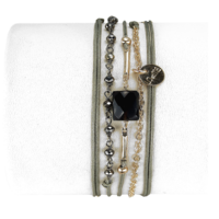 Bracelet Anastasia Onyx Noir