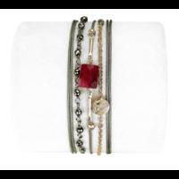 Bracelet Anastasia Rubis