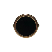 Bague Disc Onyx Or