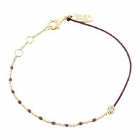 Bracelet Email Bordeaux Vermeil