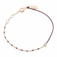 Bracelet Email Bordeaux Vermeil Rosé