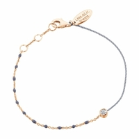 Bracelet Email Gris Vermeil Rosé