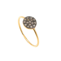 Bague Cala Rond Diamants Or