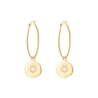 Boucles d'Oreilles Gold Hours Or
