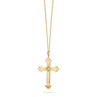 Collier Barcelona Croix GM Or