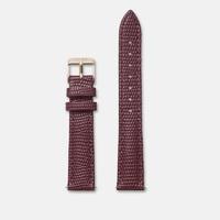 Bracelet Cuir 16mm Lezard Bordeaux Rose Gold / Or Rose
