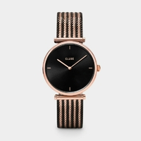 Montre Triomphe Mesh Bicolour Rose Gold Black / Black