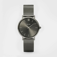Montre Minuit Mesh Full Dark Grey