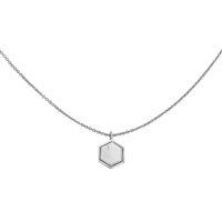 Collier Cluse Idylle Silver Breloque Hexagon Marble