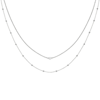 Collier Cluse Essentielle Silver Double Chaines