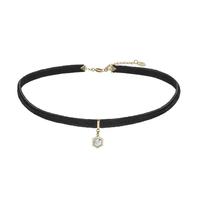 Collier Cluse Amourette Velours Noir & Breloque Gold Marble