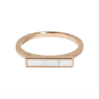Bague Cluse Idylle Barre Marble Rose Gold