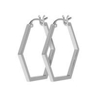 Boucles d'Oreilles Créole Cluse Essentielle All Hexagons Silver
