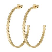 Boucles d'Oreilles Créole Cluse Essentielle Hexagon Gold