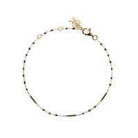 Bracelet Chaine Barre Mimi Noir Or