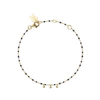 Bracelet Chaine Boule Mimi Noir Or