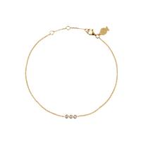 Bracelet Chaine Zircons Trio Or
