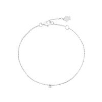 Bracelet Chaine Zircon Unique Argent