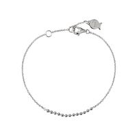 Bracelet Chaine Petites Boules Argent