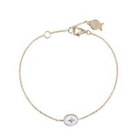 Bracelet Chaine Etoile Blanc Or