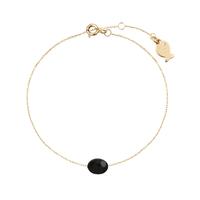 Bracelet Chaine Pierre Onyx Or