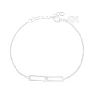 Bracelet Chaine Rectangles Argent