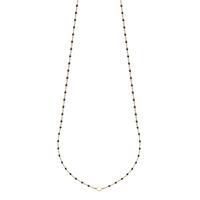 Collier Chaine Boule Noir Or