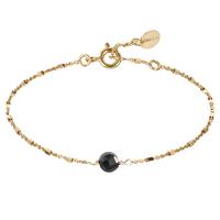 Bracelet Indes Cubes Onyx Or
