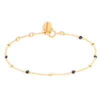 Bracelet Goa Onyx Or