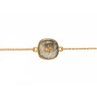 Bracelet Etoile Labradorite Or