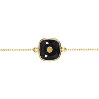 Bracelet Clou Onyx Or