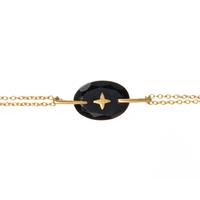 Bracelet Galet Etoile Onyx Or