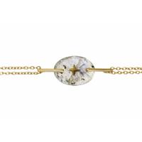 Bracelet Galet Etoile Labradorite Or