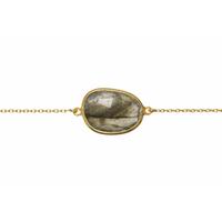 Bracelet Pierre Labradorite Or