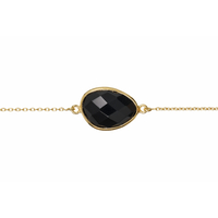 Bracelet Pierre Onyx Or