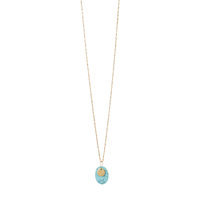 Collier Galet Pastille Turquoise Or