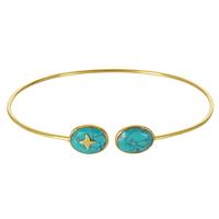 Bracelet Jonc Etoile Turquoise Or