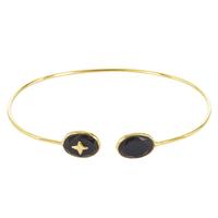 Bracelet Jonc Etoile Onyx Or