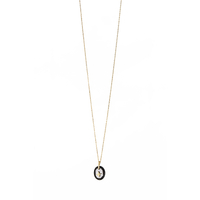 Collier Galet Etoile Onyx Or