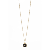 Collier Clou Onyx Or
