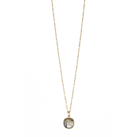 Collier Clou Labradorite Or