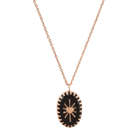 Collier Amulet Noir Or