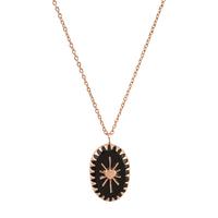 Collier Amulet Noir Or