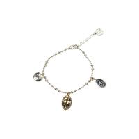Bracelet Chaine Bicolore Croix