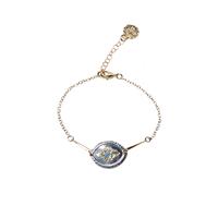 Bracelet Losange Bicolore Or