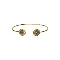 Bracelet Jonc Zircon Or