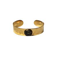 Bracelet Jonc Druzy Noir Or
