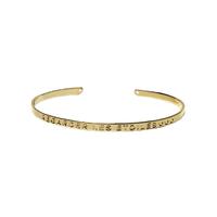 """Bracelet Jonc """"Regarder les étoiles"""" Or"""